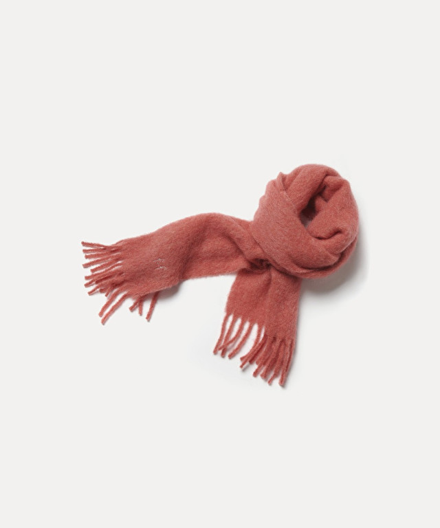scarf in gauzy wool with lamé embroidery