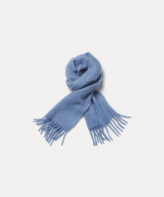sciarpa in lana garzata con ricamo in lamé