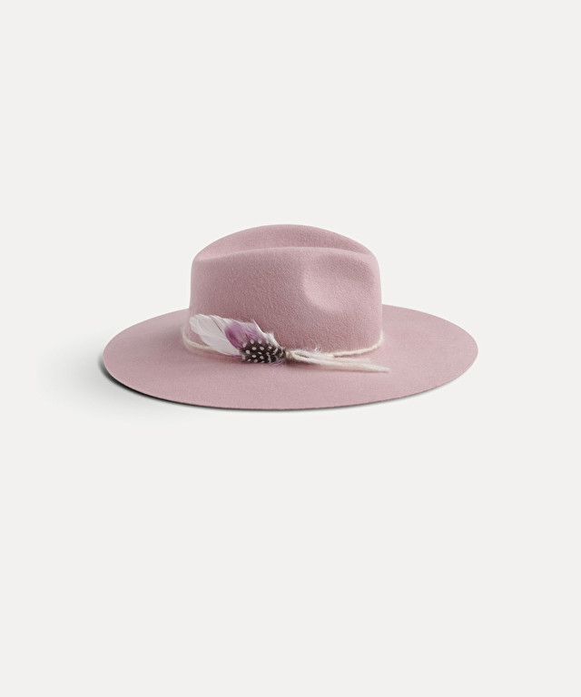 felt hat with feathers