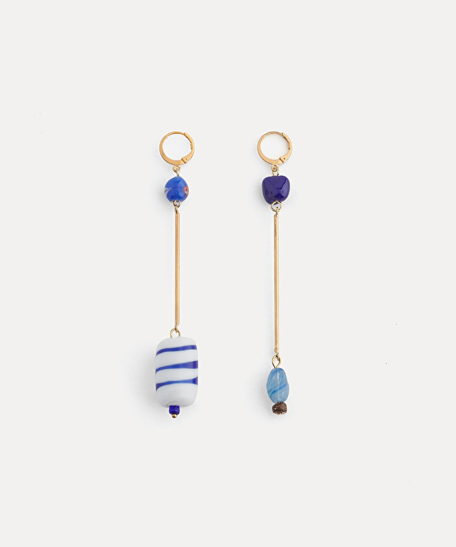 drop earrings with murano glass detail
