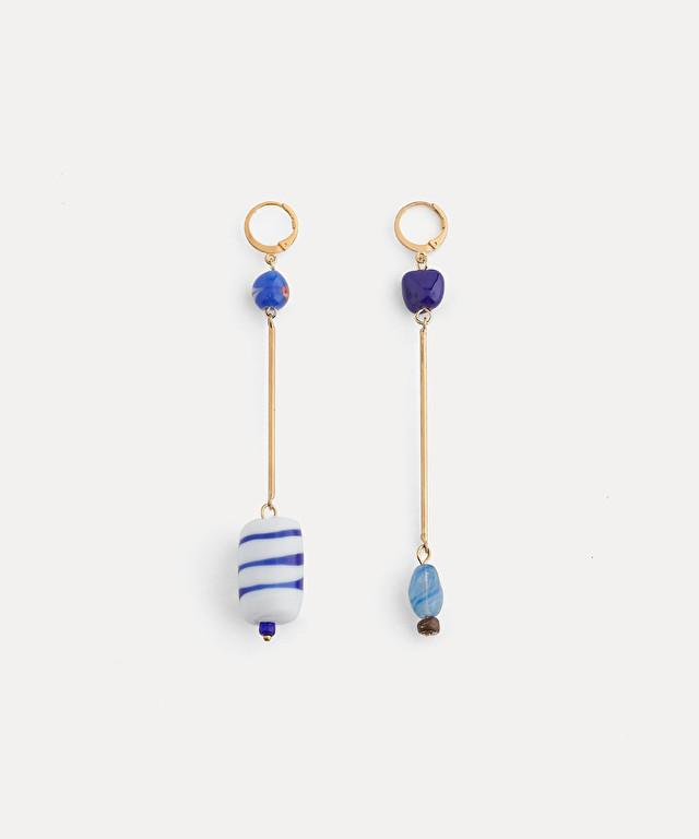 boucles d'oreille pendantes avec verre de murano