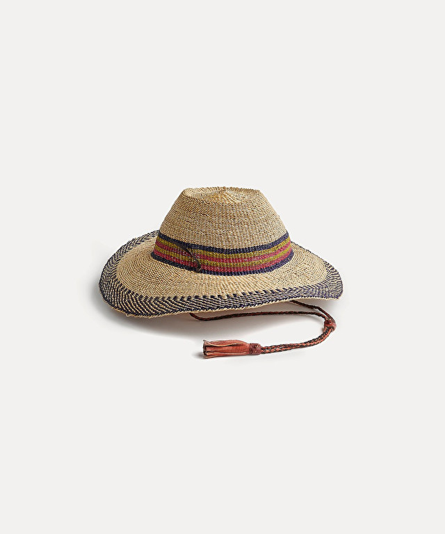 woven ethnic-style hat