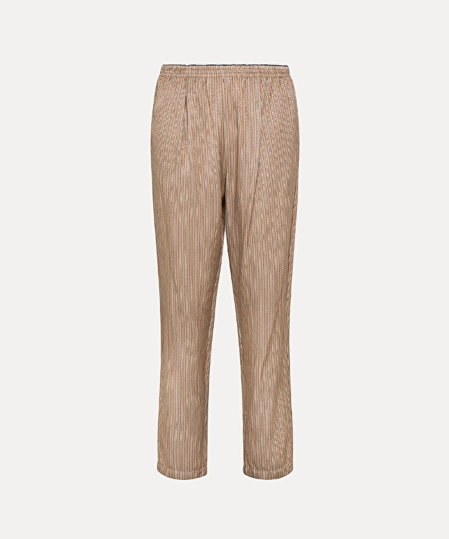 trousers in gauzy cotton sateen