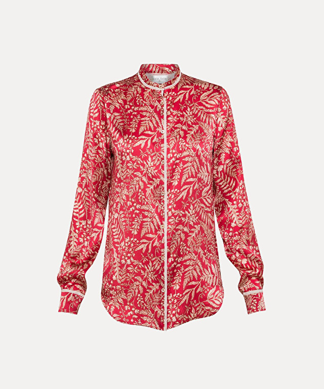 silk and cotton voile shirt with liberty print