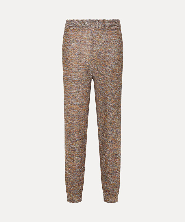 trousers in knitted viscose and lurex