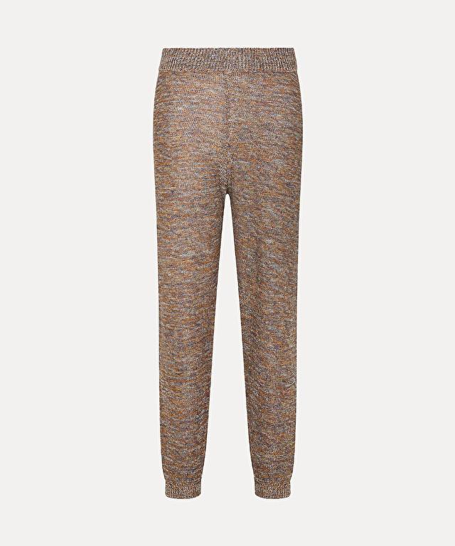 pantalon en laine de viscose et lurex
