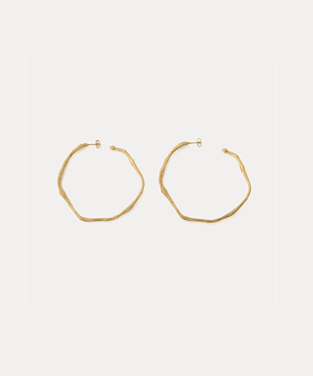 boucles d'oreille sculpture en cercle