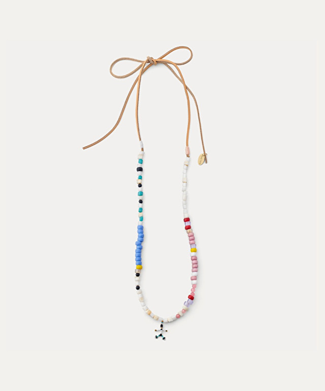 necklace with multicoloured beadwork