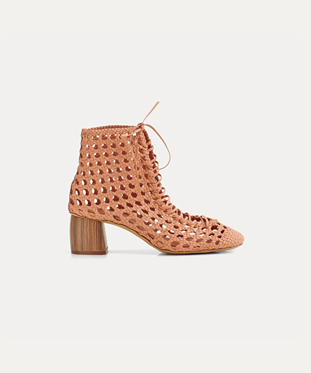 ankle boots in perforated nappa
