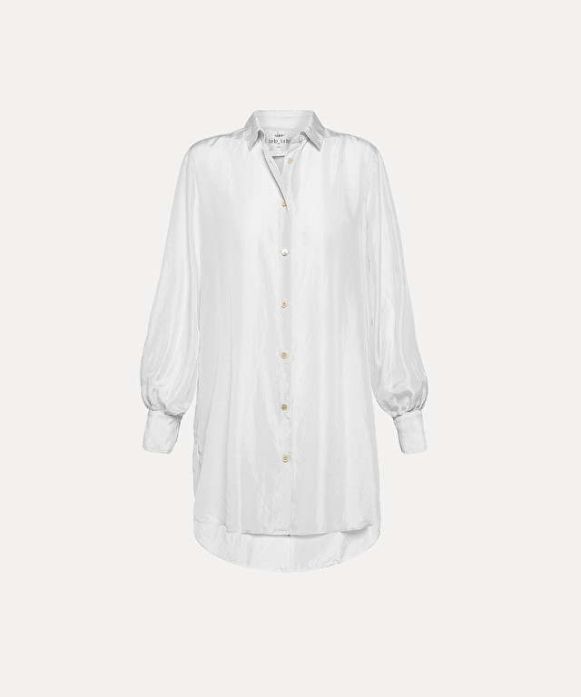 oversized shirt in habotai silk