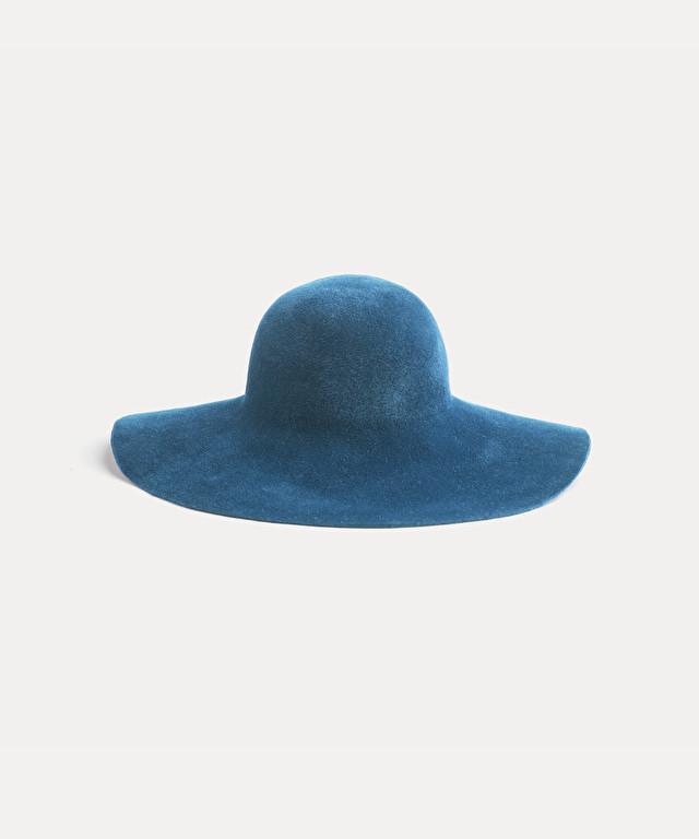 cappello a tesa larga in velour
