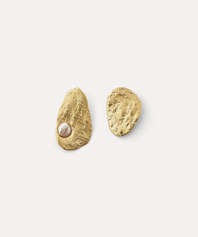 boucles d'oreille sculpture asymétriques