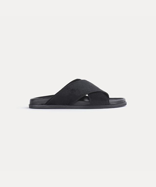 sandal in pony skin and nappa