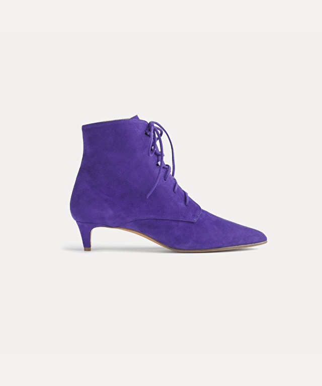 suede laced ankle boot