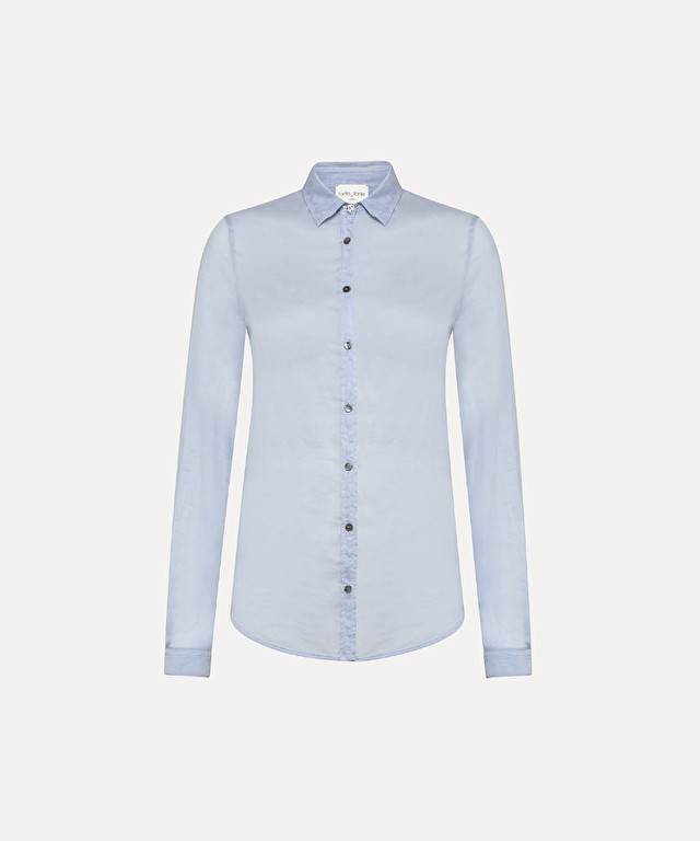masculine-looking shirt in cotton-silk voile
