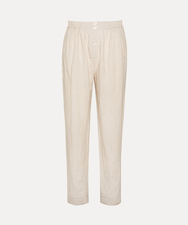 trousers in organic linen and viscose