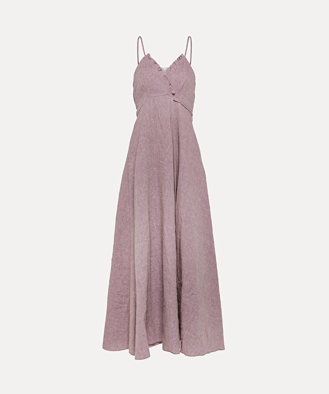 sundress in organic linen and viscose
