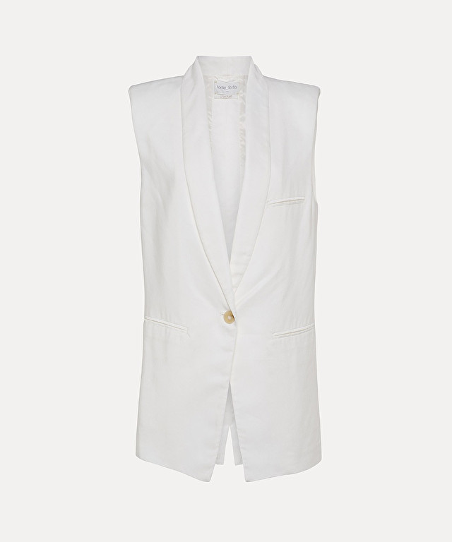 fluid sleeveless jacket in viscose and cupro