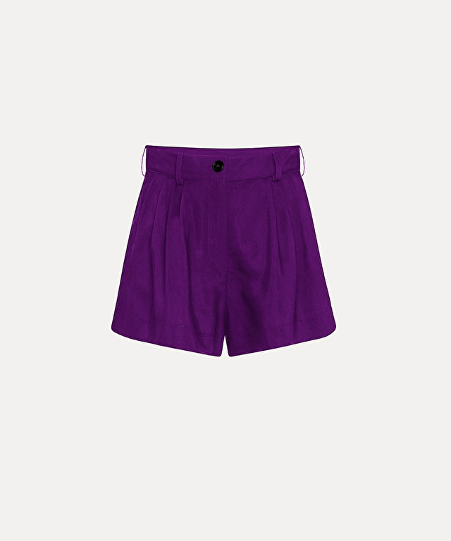 shorts in fluid viscose and cupro