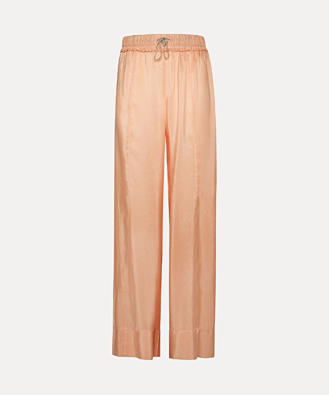 wide trousers in habotai silk