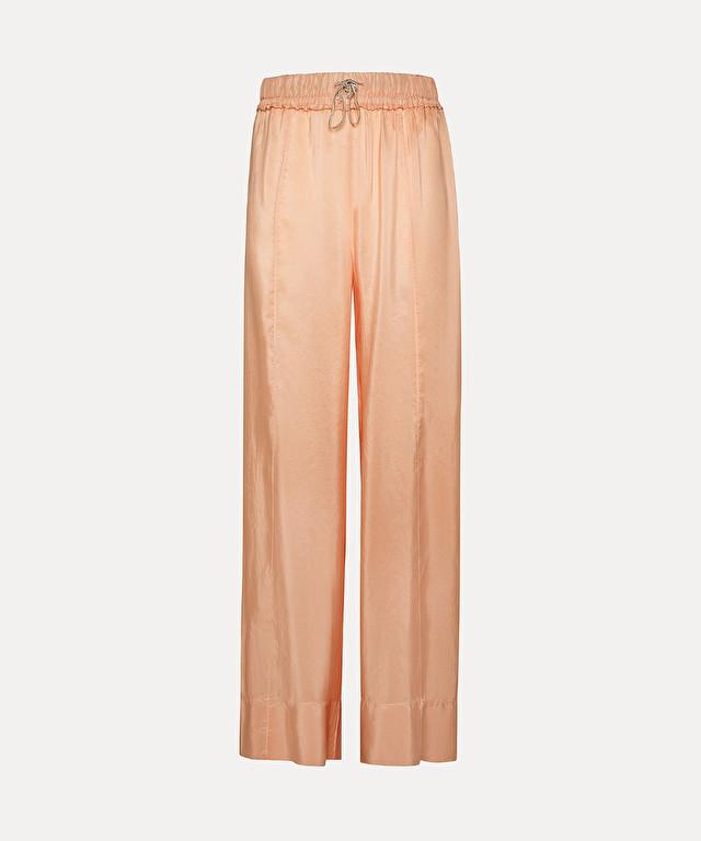pantalone ampio in seta habotai