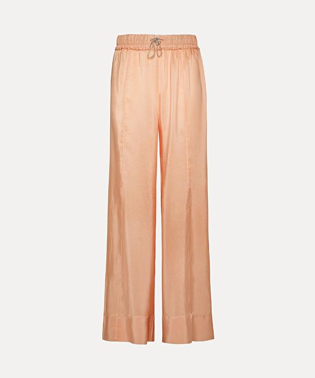 wide trousers in habotai silk