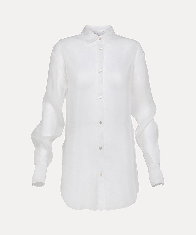 shirt in silk organza