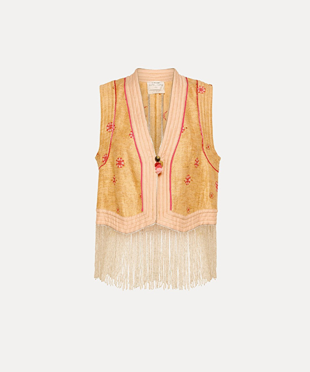 """cocktail italiano"" jacquard vest"