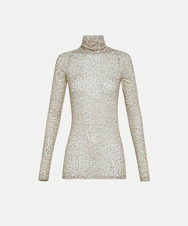 "turtleneck in angora jersey with the ""saltimbanco"" print"