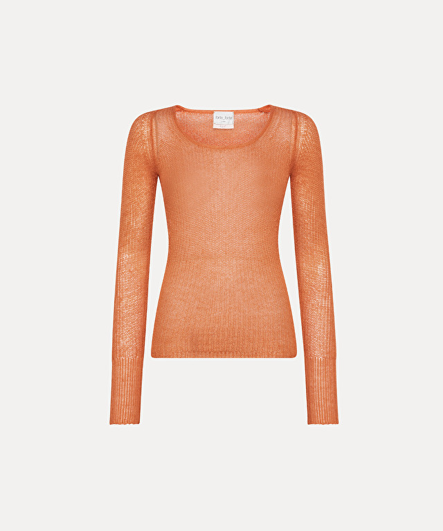 round-neck knit in pure mohair