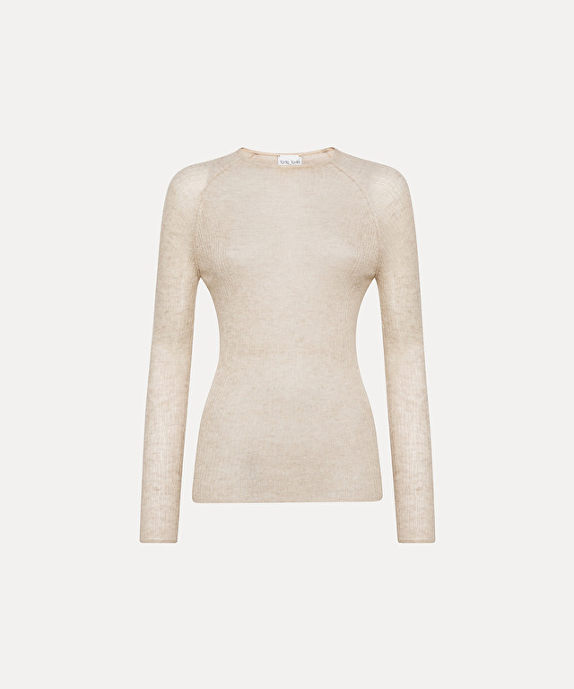 roll-neck sweater in gauzy cashmere