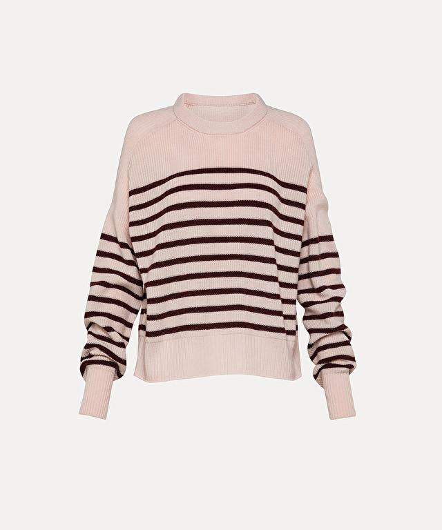 round-neck over-sized sweater in merino wool