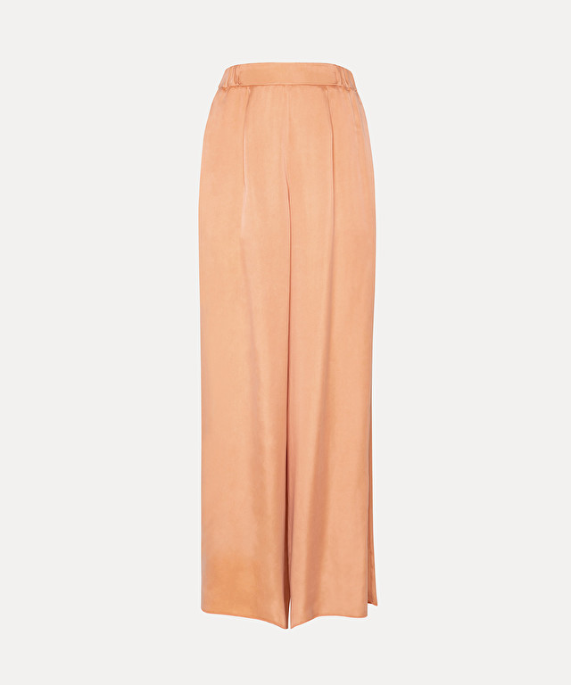pantalon large en satin de cupro