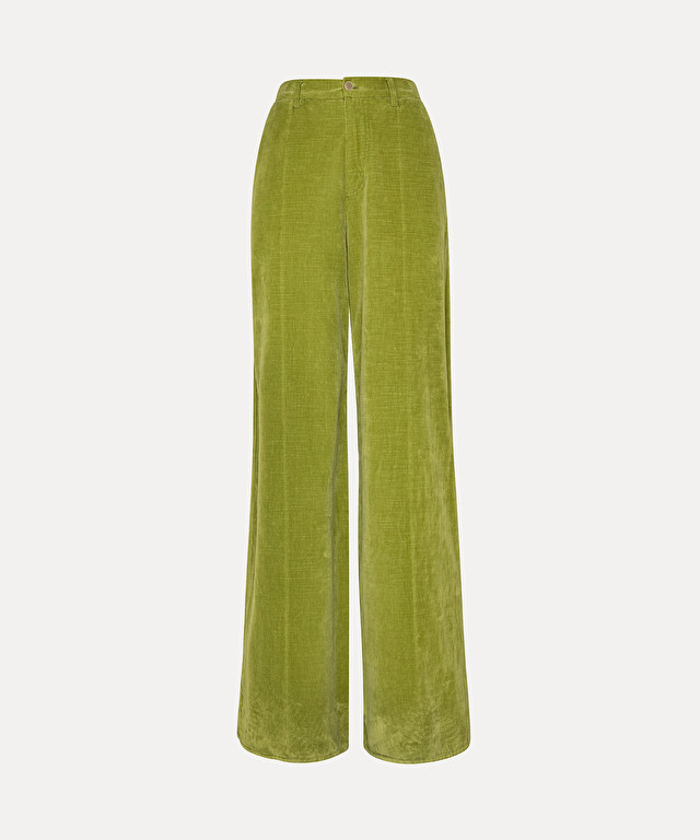 trousers in slub cotton velvet