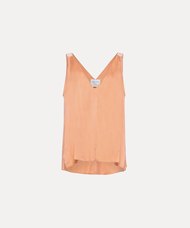 v-neck top in cupro satin