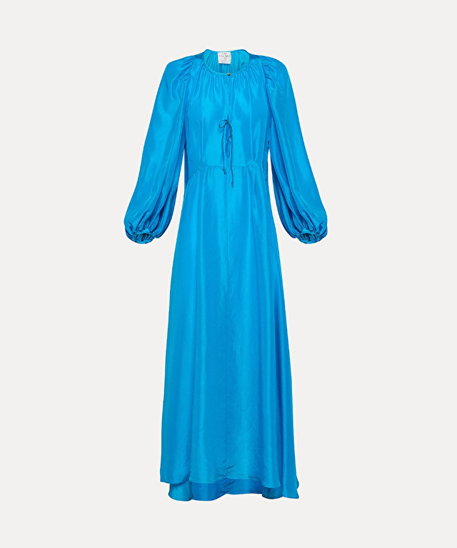 long dress in habotai silk