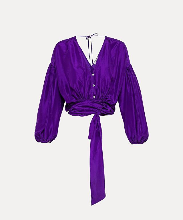 boho shirt in habotai silk