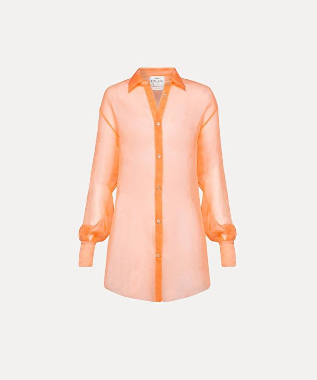 shirt in silk organza