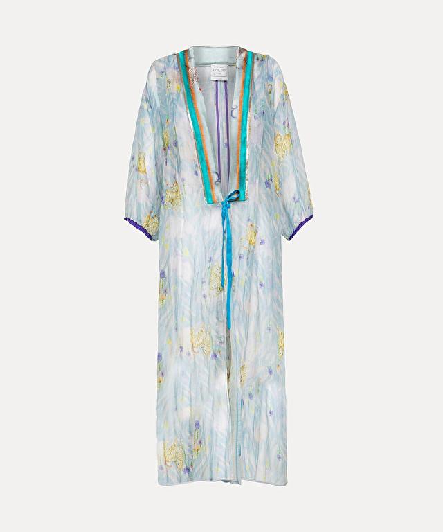 """kimono in garza di lino e seta """"la tigre innamorata"""""""