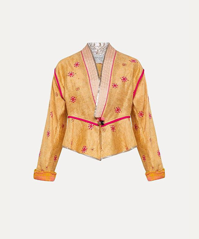 ethnic jacquard jacket