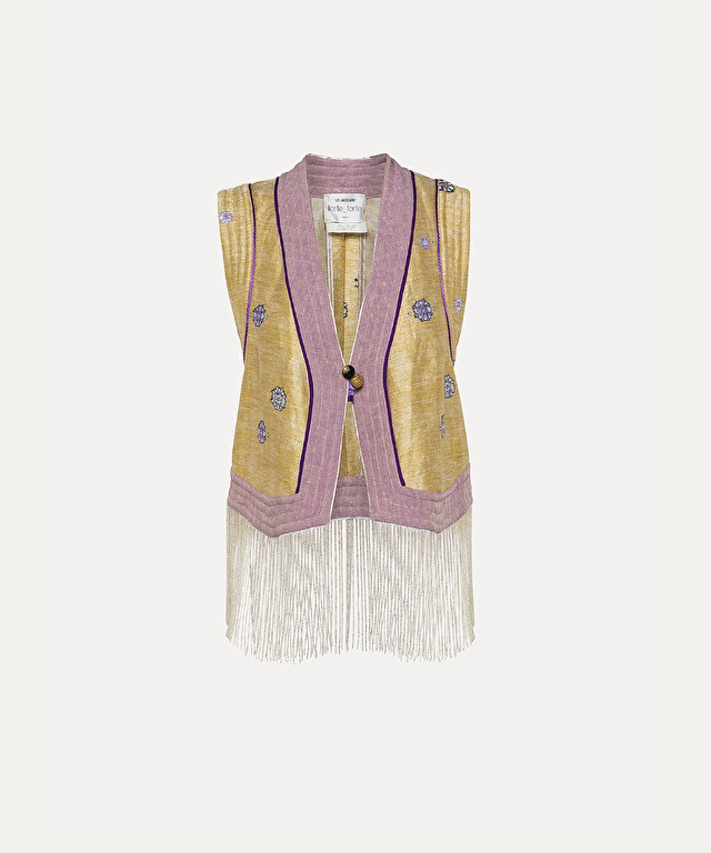 gilet jacquard « cocktail italiano »