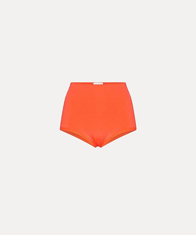 culotte mini shorts in hi-shine lycra jersey