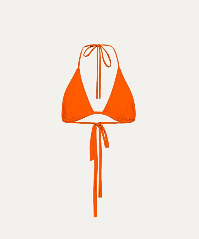 triangolo in jersey di lycra lucida