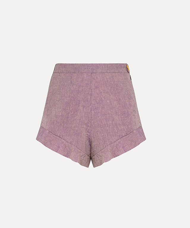 culotte shorts in organic linen and viscose
