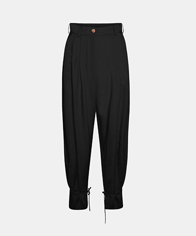 fluid trousers in viscose and cupro