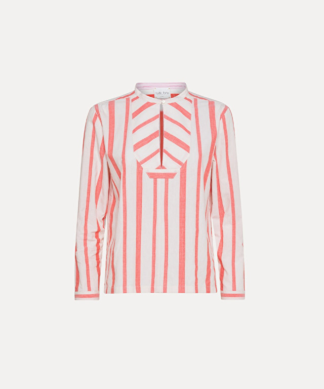 striped bourette-poplin shirt