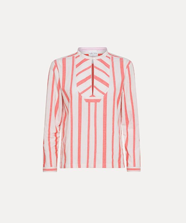 camicia in popeline bourette rigato