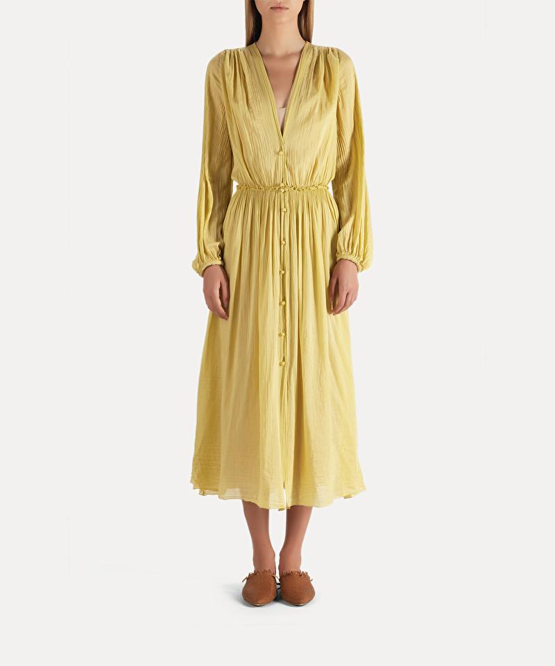 design de qualité 5f0c9 f6815 robe longue en voile de coton et soie