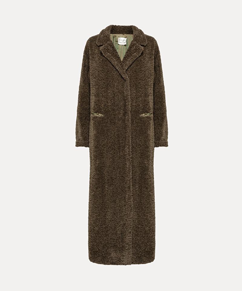 the latest 351da 3e124 cappotto in eco shearling
